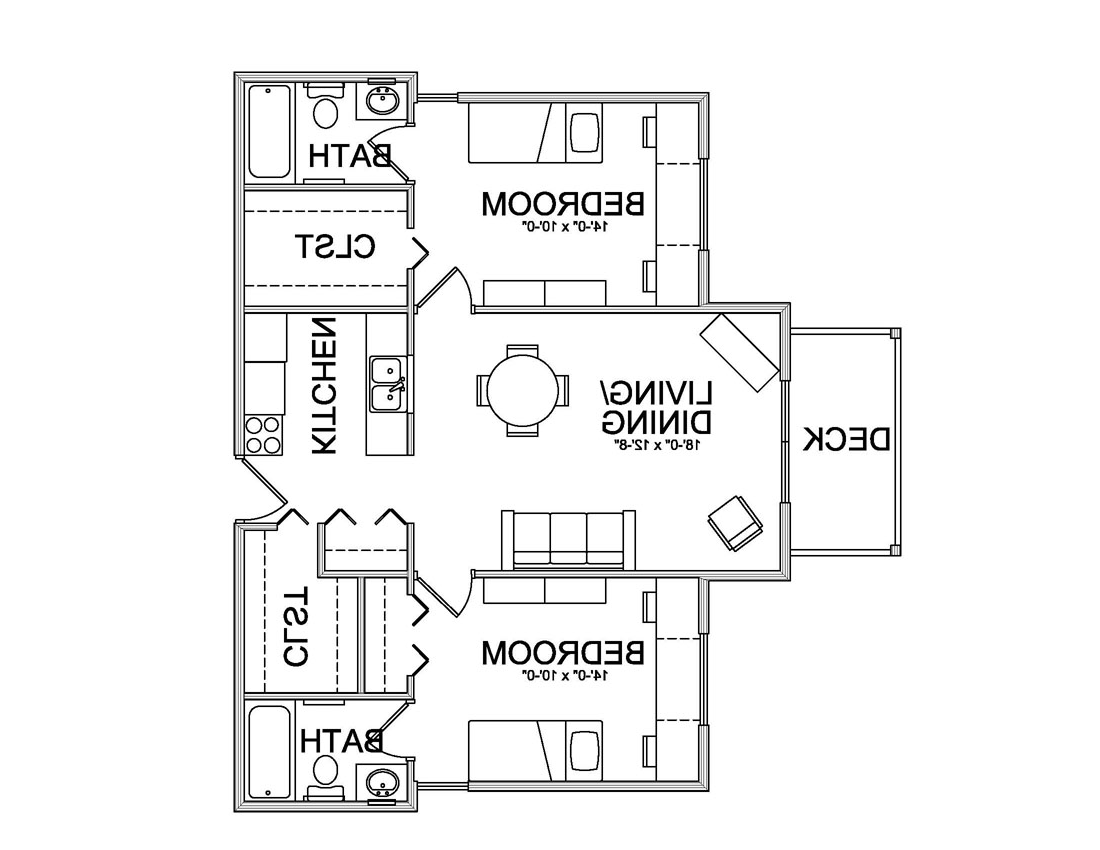 Pine grove apartment floor plan