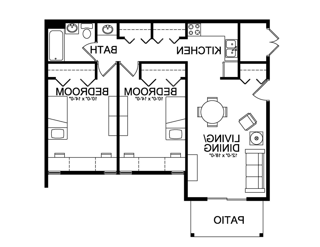 Pine grove second apartment style floor plan