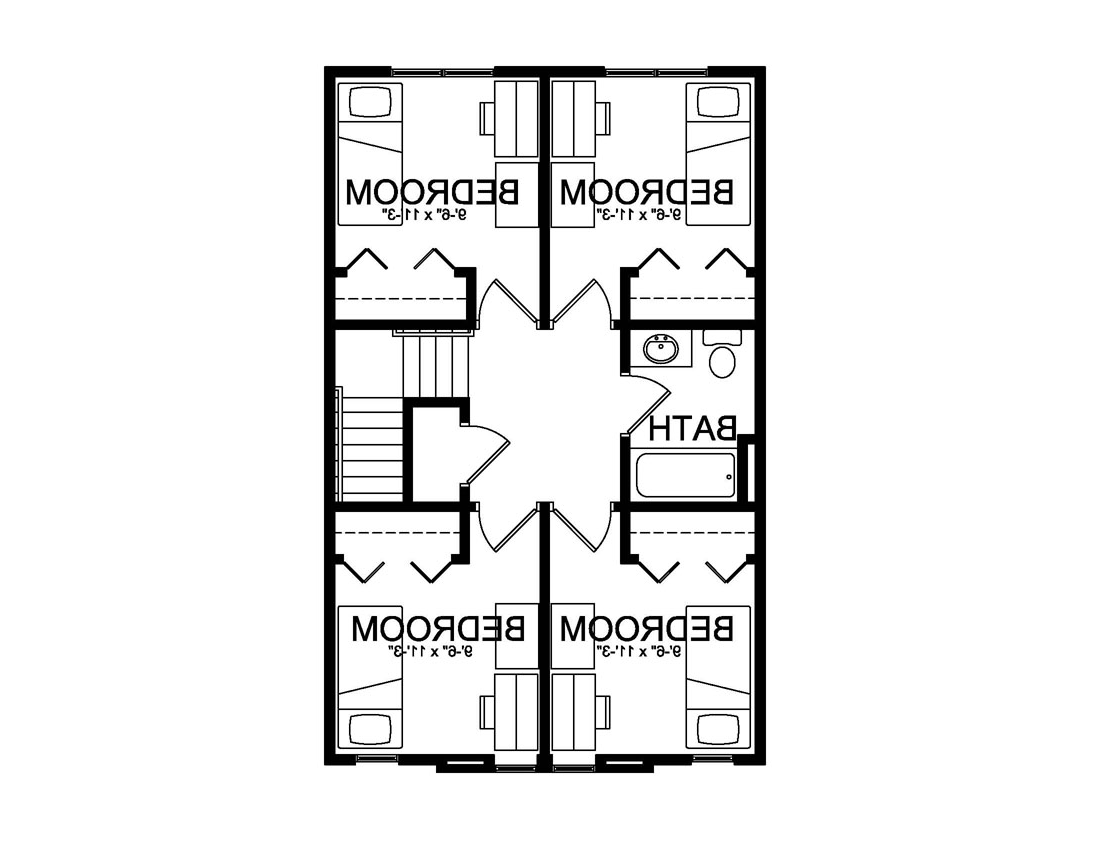 second floor university village floor plan