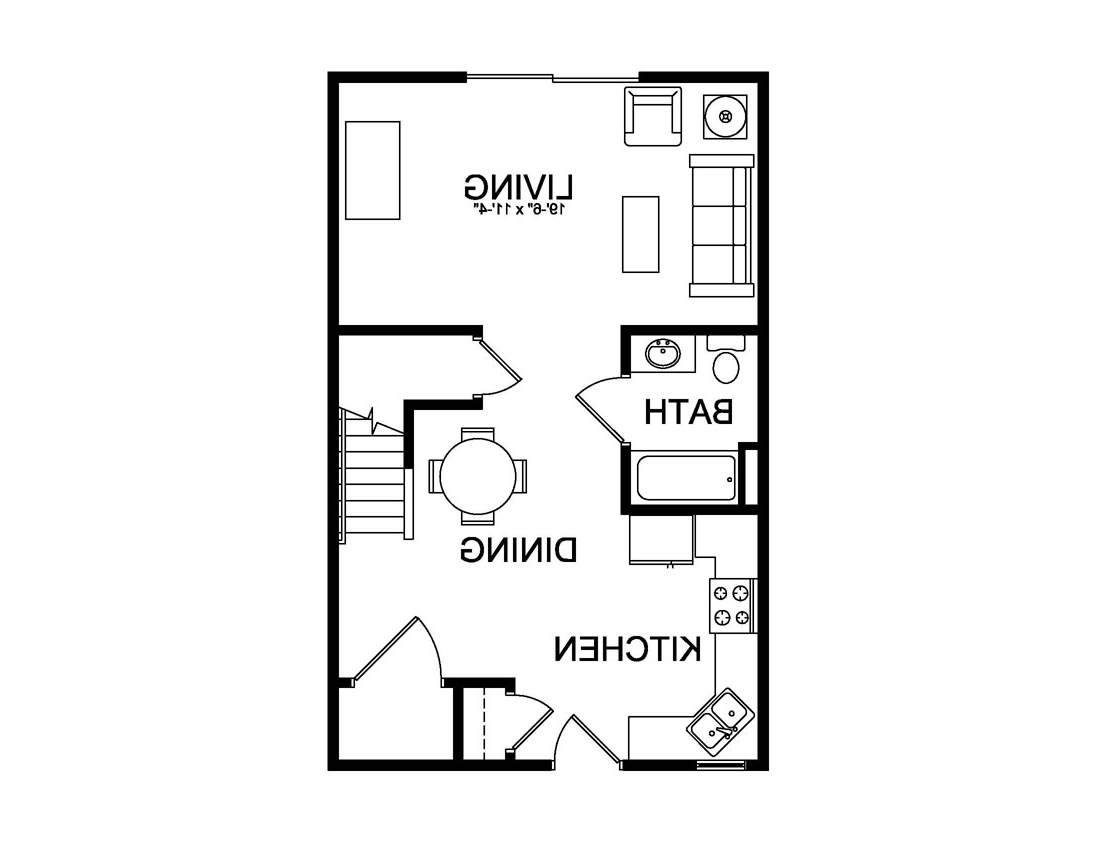 First floor university village floor plan